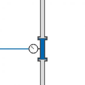 Caudalímetro o sistema para medir líquidos